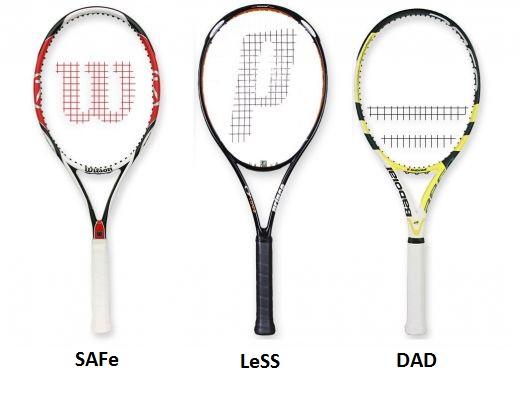 Raquetas con nombres